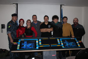 Robert Duncan McNeill and the Tydirium Crew & our Helm Console