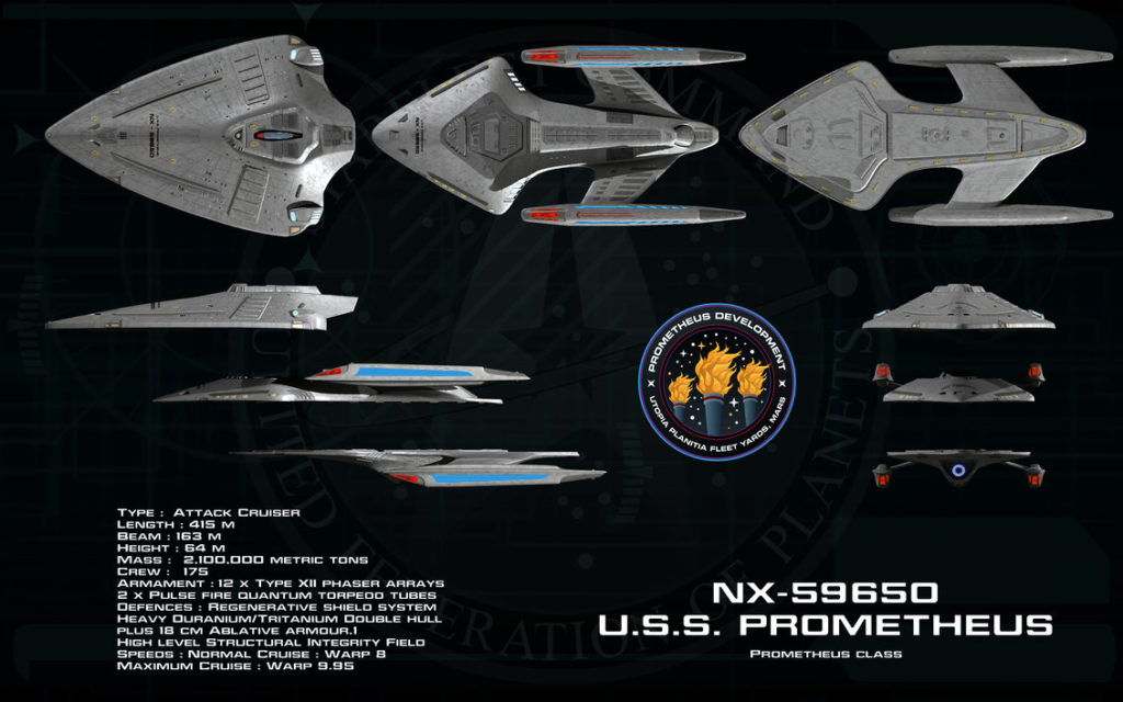 The USS Prometheus - The First of her Starship Class