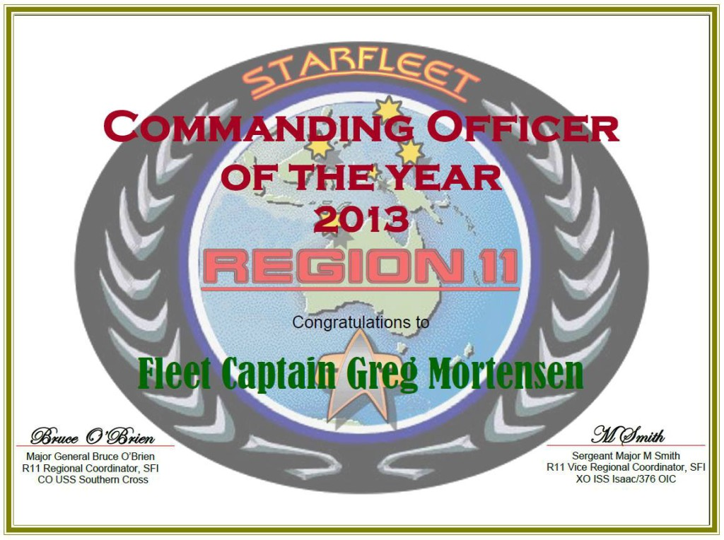 Region 11 - Commanding Officer of the Year - 2013